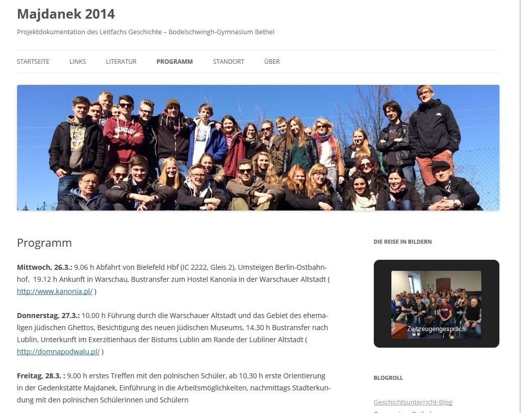 screenshot blog Maidanek